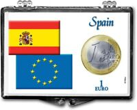 LOT OF FIVE SPAIN ONE EURO COIN GIFT DISPLAYS