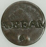 CLASSIC HEAD LARGE CENT COUNTERMARKED COUNTERSTAMPED A.BEAM MERCHANT TOKEN??