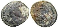CONSTANTIUS II FEL TEMP HORSEMAN FROM HERACLEA WITH DECORATED SHIELD