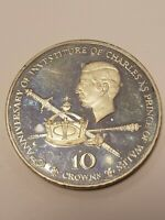 1979 TURKS AND CAICOS ISLANDS 10 CROWNS