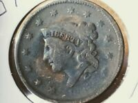 1837 US  CENT LIBERTY YOUNG HEAD MEDIUM LETTERS PRICE LOWERED, SHIPS FREE