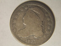 1837 CAPPED BUST DIME LAST YEAR FOR CAPPED TYPE
