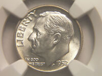 1952 ROOSEVELT DIME MINT STATE 64 NGC