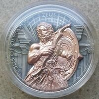 2017 2 OZ SILVER ZEUS GODS OF OLYMPUS SILVER COIN 5$ NIUE IS