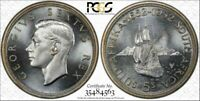 SOUTH AFRICA 1952 GEORGE VI FIVE SHILLINGS 5 SHILLINGS. PCGS PROOF 66  CROWN