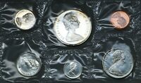 CANADA SILVER FULL COIN SET 1965 PENNY TO DOLLAR UNC