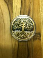 2018 ROYAL CANADIAN MINT $20 9999 FINE SILVER TREE OF LIFE C