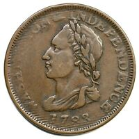 1783 UNITY STATES WASHINGTON & INDEPENDENCE COLONIAL COPPER COIN