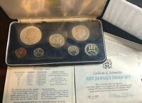 1973 SEVEN  7  COIN JAMAICA SILVER PROOF SET IN OGP OVER 1.2