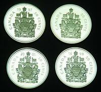 1997 1999 2001 AND 2002 50 SILVER PROOF ULTRA CAMEO COINS FR