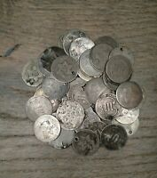 LOT OF  50  FIFTY 3 CENT SILVER TRIME 3CS LOT  CULL CONDITIO
