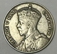 1934 SILVER HALF CROWN NEW ZEALAND FOREIGN ESTATE COIN