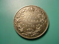 CANADA   SILVER   1918 25 CENTS IN