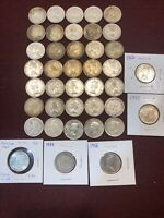 CANADA SILVER QUARTER ROLL: COLLECTION OF 40 CANADIAN .800 S
