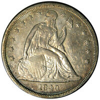 1840 SEATED LIBERTY DOLLAR -  AU ALMOST UNCIRCULATED - PRICED RIGHT