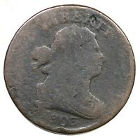 1803 C-2 R-4 MANLEY 5.0 DRAPED BUST HALF CENT COIN 1/2C