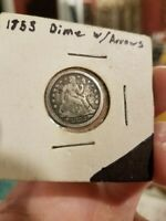 1853 SEATED LIBERTY DIME WITH ARROWS/ VF CONDITION