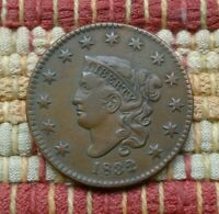 1832 MATRON HEAD LARGE CENT     GRADE, GREAT EYE APPEAL
