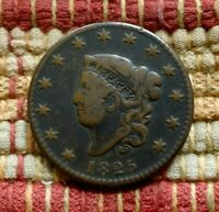 1825 MATRON HEAD LARGE CENT    ATTRACTIVE EXAMPLE OF A TOUGH YEAR