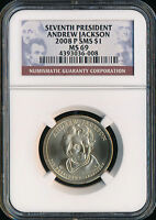 2008-P ANDREW JACKSON DOLLAR NGC MINT STATE 69 SMS FINEST REGISTRY