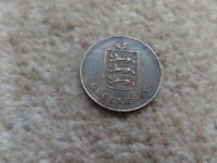 COLLECTION OLD GUERNSEY 4 DOUBLES COIN 1920 H - 26MM . GOOD GIFT