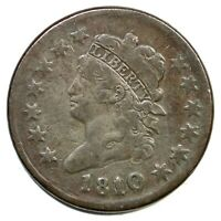 1810/9 S-281 CLASSIC HEAD LARGE CENT COIN 1C