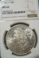 1904 O  MORGAN SILVER DOLLAR - NGC MINT STATE 62, 2412