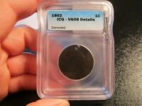 ICG VG08 1802 DRAPED BUST LARGE CENT S-227 RARITY-3- WE COMBINE ON SHIPPING