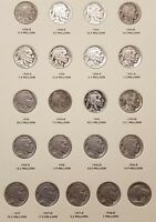 COMPLETE SET OF US BUFFALO NICKELS WITH 65 COINS, ALL KEY DATES & BOOK