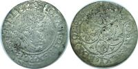 1665 AT POLAND JOHANN CASIMIR JAN II 1649-1668 SILVER 6 GROSCHEN KM 91