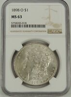 1898-O  $1 MORGAN SILVER DOLLAR NGC MINT STATE 63 5758283-018 - VAM-23 -  EYE APPEAL