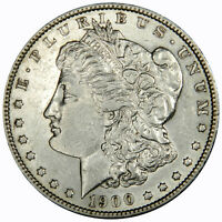 1900-S MORGAN DOLLAR  SHARP AU/BU SLIDER LOOKS UNCIRCULATED INVDJ5