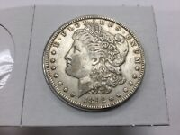 1892 MORGAN DOLLAR- LY TONED ALMOST UNCIRCULATED PLUS
