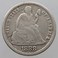 UNITED STATES DIME 1888 S  T38 171