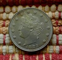 1883 LIBERTY V-NICKEL WITHOUT CENTS IN HIGH GRADE    FIRST YEAR OF ISSUE