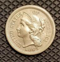 1883 3 CENT NICKEL UNCIRCULATED 4000 MINTED