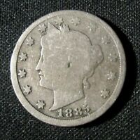1885 LIBERTY HEAD V NICKEL KEY DATE LOW MINTAGE  COIN