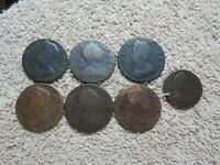 GREAT BRITAIN 1/2 PENNIES  FARTHING 1700'S LOT OF 13 COLONIA