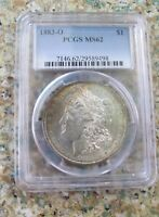 MORGAN DOLLAR 1883-O VAM-22A PARTIAL E REVERSE, CLASHED OBVERSE D O PCGS MINT STATE 62