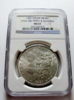 1889 P MORGAN DOLLAR VAM-28A DOUBLED EAR FAR DATE PITTED DO NGC MINT STATE 61 HIT LIST 40