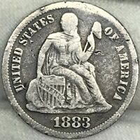 1883 10C SEATED LIBERTY DIME ||| PROBLEM FREE, GREAT LOOKING COIN