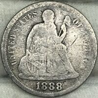 1888 10C SEATED LIBERTY DIME     PROBLEM FREE, GREAT LOOKING COIN