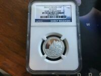 2012 S PF 70 SILVER ACADIA PROOF QUARTER EARLY RELEASE NGC C