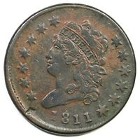 1811 S-287 R-2 CLASSIC HEAD LARGE CENT COIN 1C