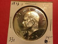 US IKE/EISENHOWER CLAD DOLLAR, 1973-S, PROOF, L 331