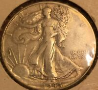 1944-P US WALKING LIBERTY HALF FROM OLD COLLECTION, HIGH GRADE, L 473