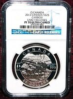 2013 CANADA $25 O CANADA - CARIBOU COIN - NGC PF 70 ULTRA CAMEO EARLY RELEASES