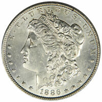 1886 MORGAN DOLLAR - BOLD AU ALMOST UNCIRCULATED - PRICED RIGHT INV920A