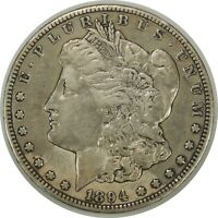 1894-S  $1 MORGAN SILVER DOLLAR - VF/EXTRA FINE  DETAILS OLD LIGHT CLEANING  092919