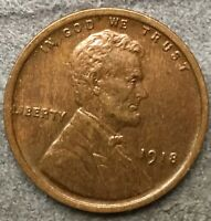 1918 P HIGH GRADE EXTRA FINE  OLD CLEANING LINCOLN WHEAT CENT. X943 FREE SHIP